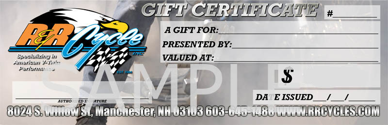 R&R Cycles Gift Certificate
