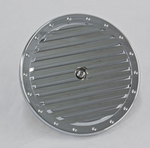 R&R's Billet Air Cleaner Cover (Straight Ribbed)