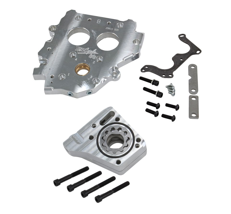 R&R Internal Cam Support Plate & Thayer 3 Stg Oil Pump Kit 99-06