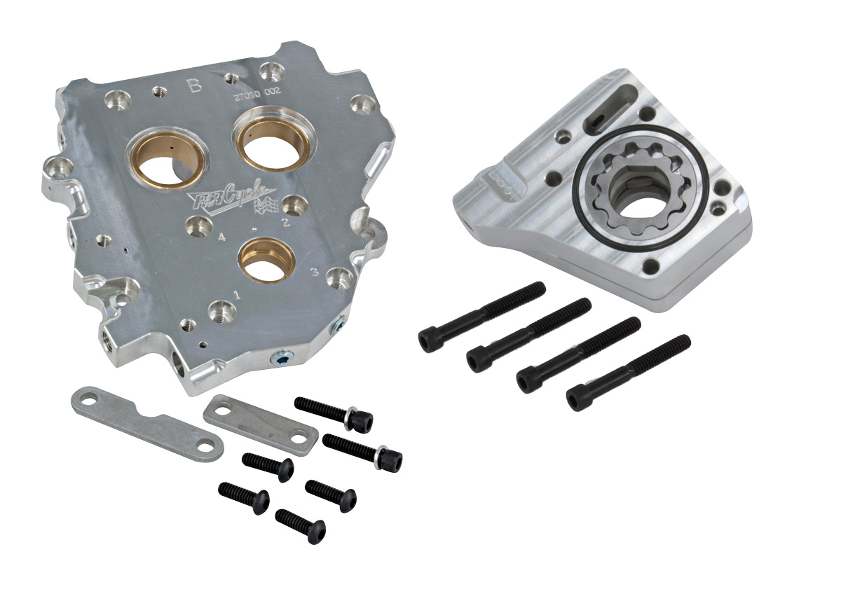 R&R Internal Cam Support Plate & Thayer 3 Stg Oil Pump Kit 07-UP